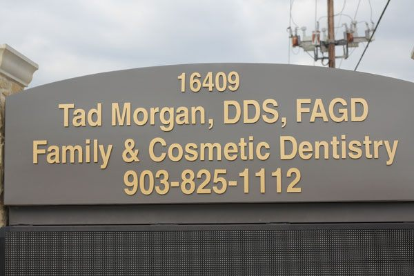 Tad Morgan DDS sign