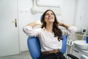 Woman smiling after oral myofunctional therapy in Tyler